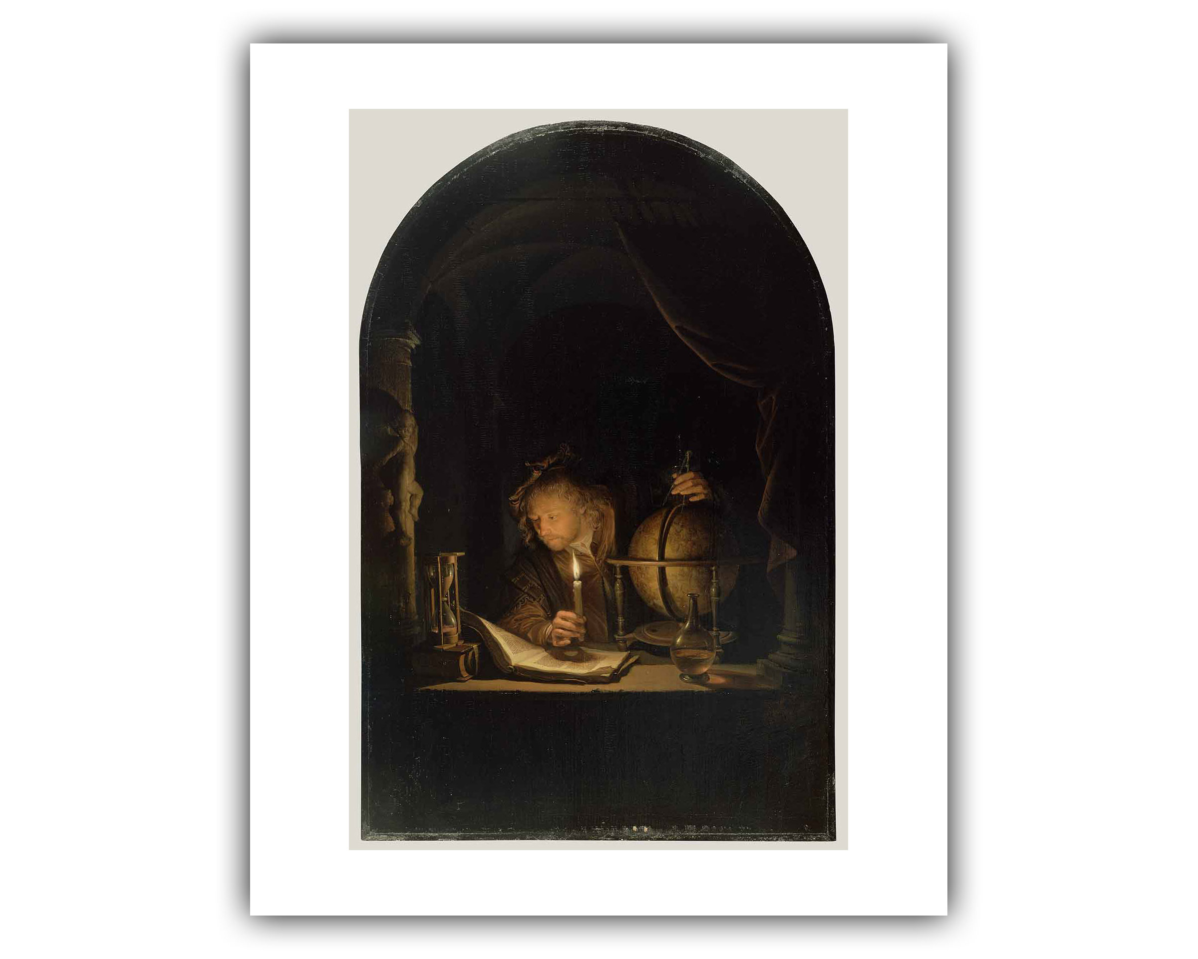 """Gerrit Dou : """"Astronomer By Candlelight"""" (1655-1659)"""